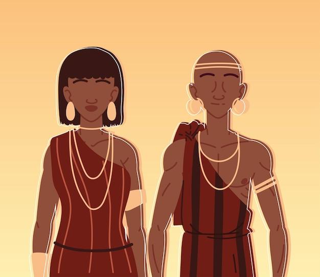 Para aborygeńskich portretów
