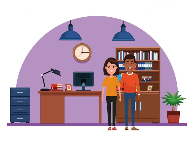 Para avatar postać z kreskówki portret