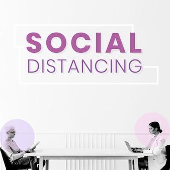 Para dystansu społecznego w domu wektor