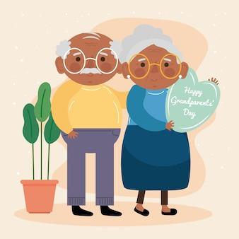 Para dziadków afro