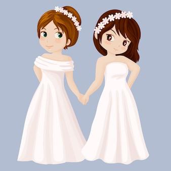 Para dziewcząt weselnych