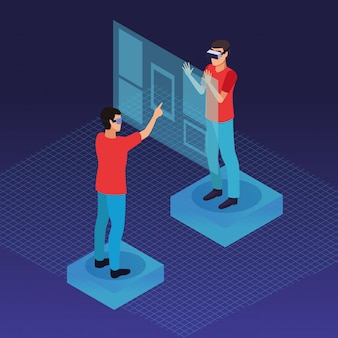 Para gra z wirtualną rzeczywistością