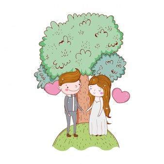 Para małżeństwo kreskówka