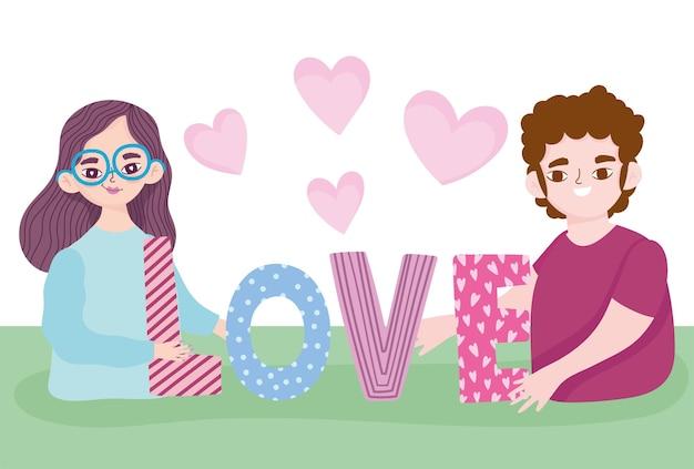 Para miłość tekst i serce romans portret postaci z kreskówek