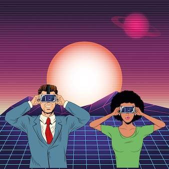 Para nosi słuchawki wirtualnej rzeczywistości