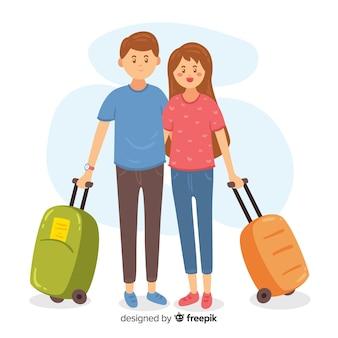 Para podróżująca