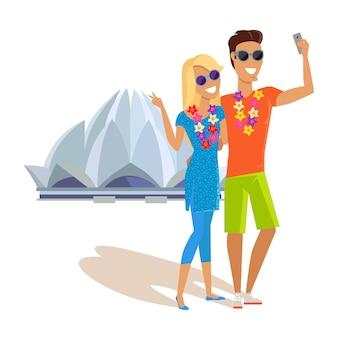 Para selfie na wakacjach w indiach