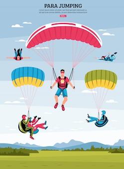 Para skaczących ilustracji