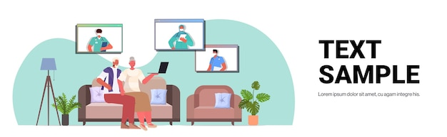 Para starszych pacjentów rozmawiająca z lekarzami w oknie przeglądarki internetowej konsultacje lekarskie online