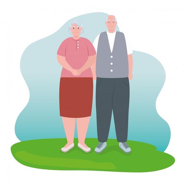 Para starszych uśmiechnięta, stara kobieta i staruszek para zakochanych