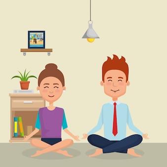 Para uprawiania jogi