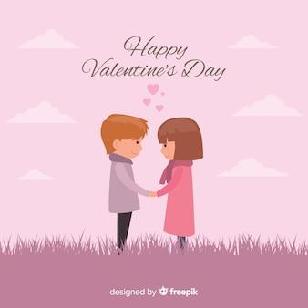 Para w polu valentine tle