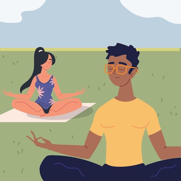 Para w pozycji medytacyjnej