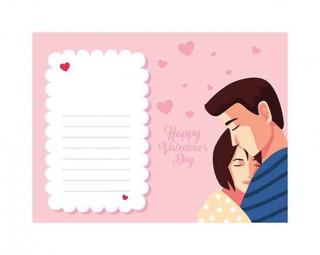 Para zakochanych, etykieta szczęśliwy walentynki