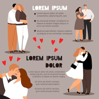 Para zakochanych plakat informacyjny