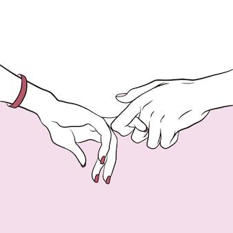 Para zakochanych trzymać się za ręce