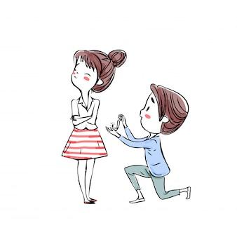 Para zakochanych valentine.