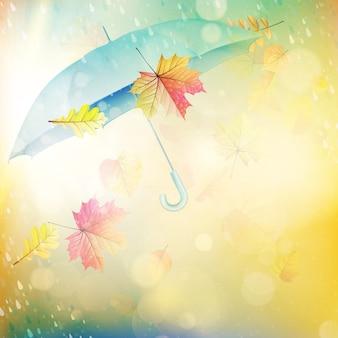 Parasol, jesień koncepcja.