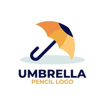 Parasol ołówek logo
