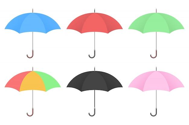 Parasolowa projekt ilustracja odizolowywająca