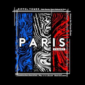Paris tshirt i projekt graficzny plakatu w abstrakcyjnym stylu ilustracja wektorowa