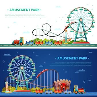 Park rozrywki poziome banery