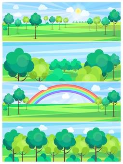 Park w lecie i ładna pogoda