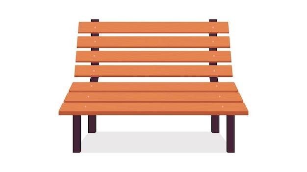 Parkowa drewniana ławka
