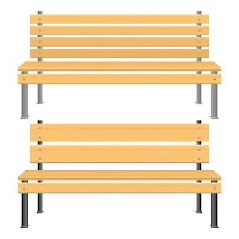 Parkowa ławki ilustracja odizolowywająca na białym tle