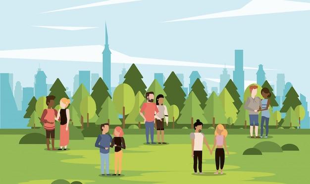 Parkscape z parami
