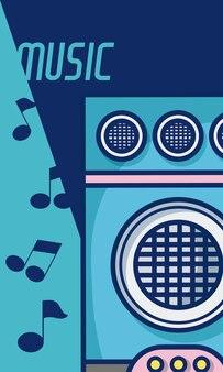Party głośnik nowoczesna muzyka sprzęt kreskówka