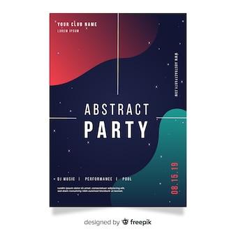 Party plakat szablon o abstrakcyjnych kształtach