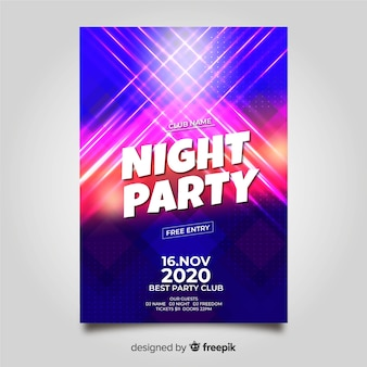 Party plakat szablon o abstrakcyjnym kształcie