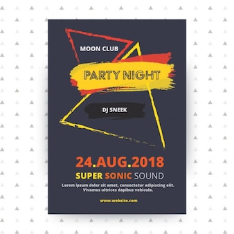 Party plakat szablon projektowanie