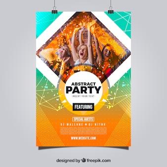 Party plakat szablon z abstrakcyjnego stylu