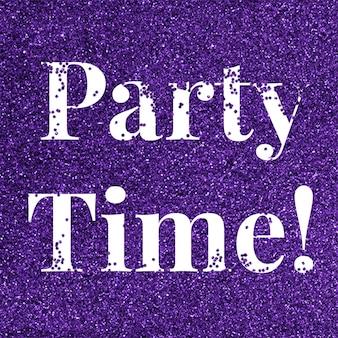 Party time brokat słowo typografia tekstowa
