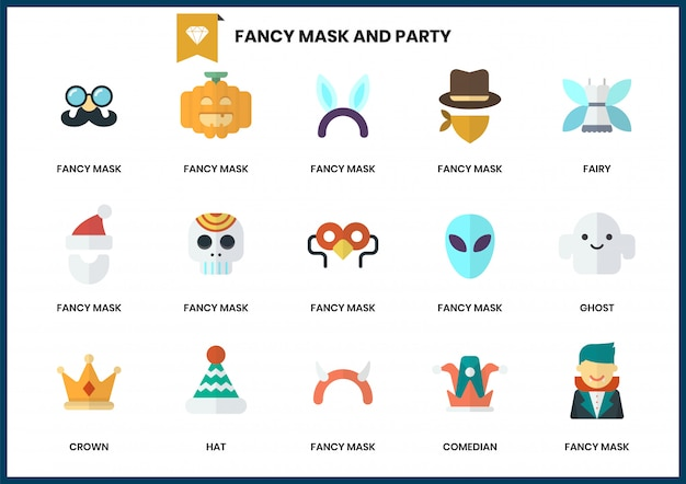 Partyjne ikony ustawiać dla biznesu