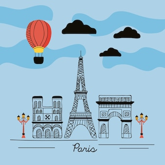 Paryska scena uliczna na wsi