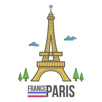 Paryż francja eiffel
