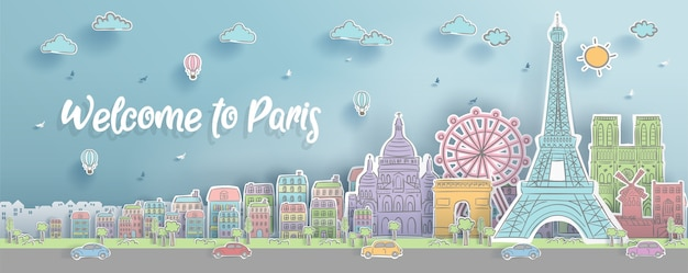 Paryż, francja zabytki.