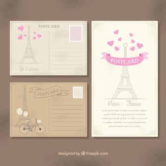 Paryż pocztówki