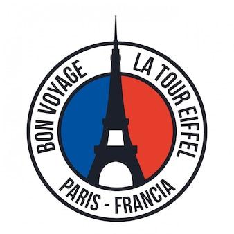 Paryż projekt, wektorowa ilustracja.