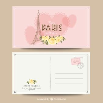 Paryż romantyczny pocztówka