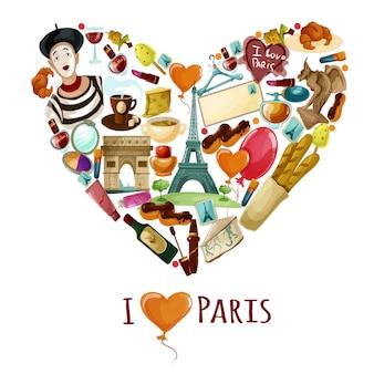Paryż turystyczny plakat