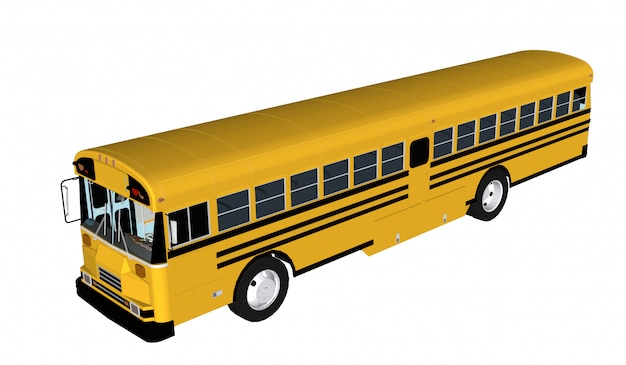 Pasażer autobusu na białym tle