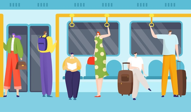 Pasażerowie w metrze
