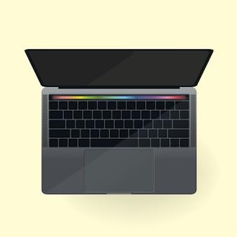 Pasek dotykowy szablon macbook