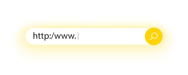 Pasek wyszukiwania interfejsu użytkownika i strony internetowej adres wyszukiwania i ikona paska nawigacyjnego