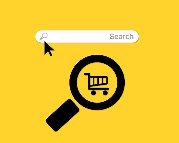 Pasek wyszukiwania, pola wyszukiwania z cieniem