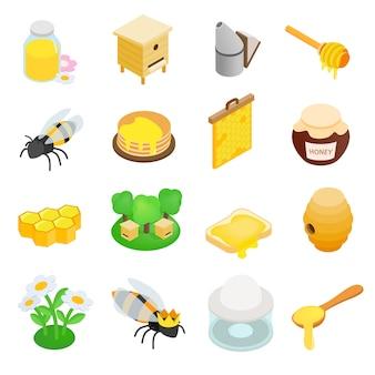 Pasieki izometryczny 3d ikona